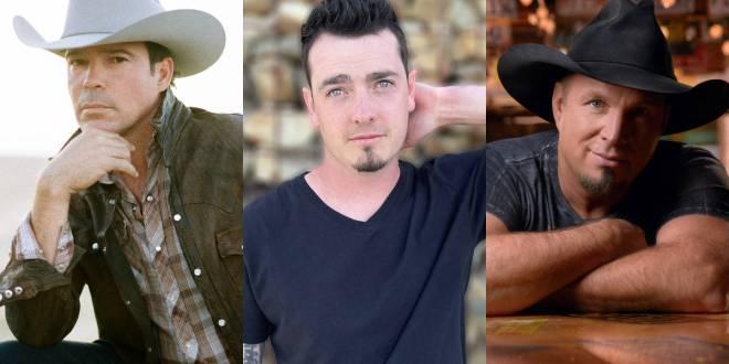 Clay Walker, Kaleb Austin & Garth Brooks; Photos Provided