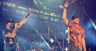 Luke Bryan and Cole Swindell; Photo Courtesy @NashvilleVIP