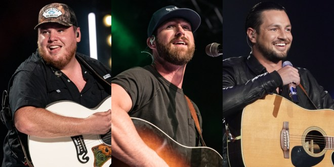 Luke Combs, Riley Green; Photos By Andrew Wendowski; Chayce Beckham, Photo Courtesy of ABC/Idol
