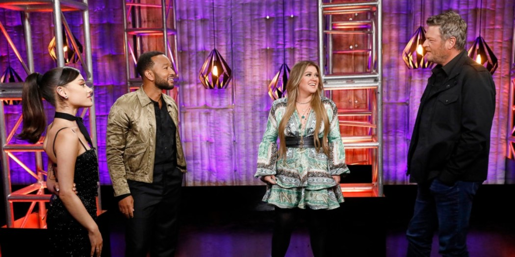 'The Voice' coaches Ariana Grande, John Legend, Kelly Clarkson and Blake Shelton; Photo Courtesy of NBC