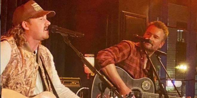 Morgan Wallen and Eric Church; Photo by @kknake/IG