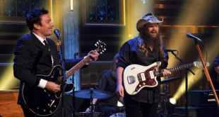 Jimmy Fallon & Chris Stapleton; Photo Courtesy of NBC