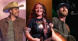 Dustin Lynch, Ashley McBryde, Riley Green; Photos by Andrew Wendowski