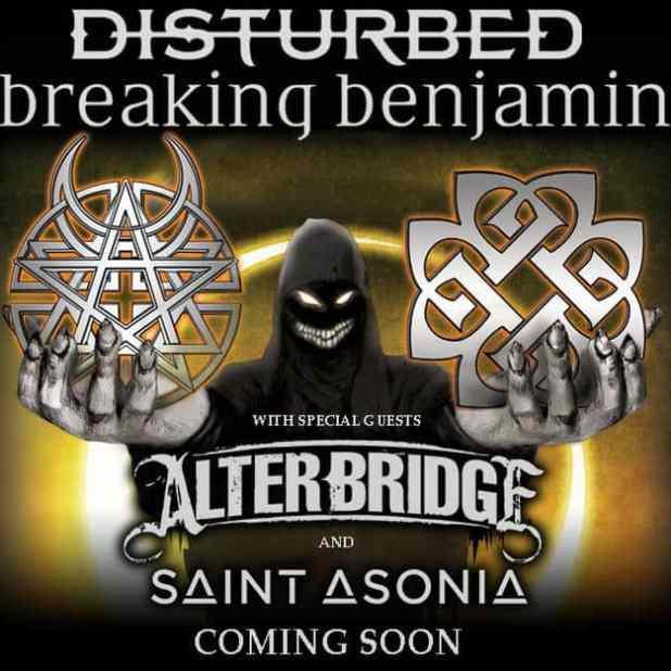 Breaking Benjamin & Disturbed Tour dates 2016