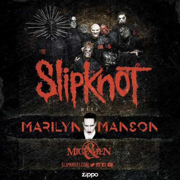 SLIPKNOT, Marilyn Manson, Of Mice & Men Tour