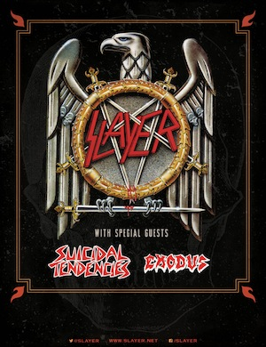 Slayer, Suicidal Tendencies & Exodus touring together this fall 2014!