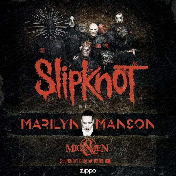 SLIPKNOT Marilyn Mason Of Mice & Men 2016 Tour