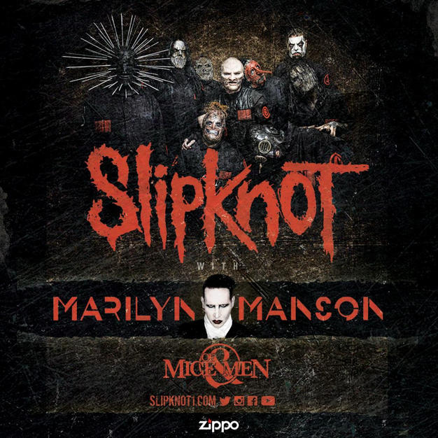SLIPKNOT Marilyn Mason Of Mice & Men 2016 Tour