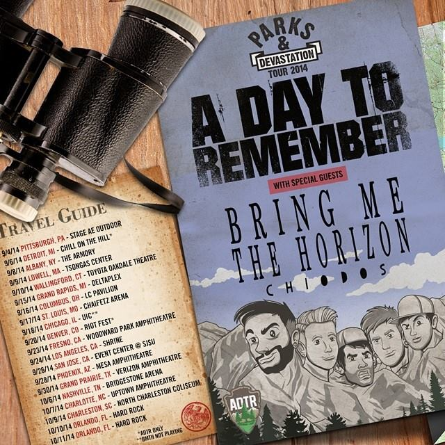 BRING ME THE HORIZON, A DAY TO REMEMBER, & CHIODOS announce 2014 FALL TOUR!