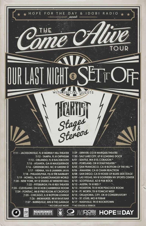 THE COME ALIVE TOUR