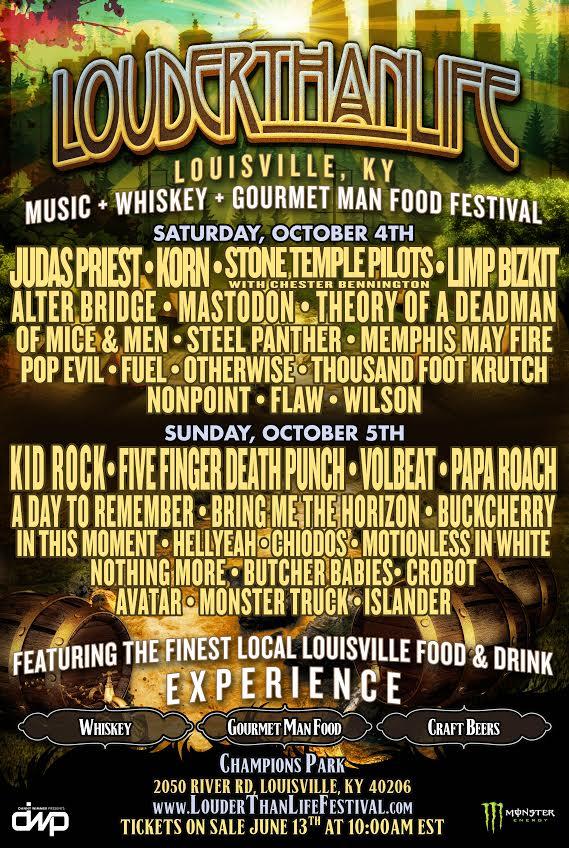 Louder Than Life 2014 debut festival