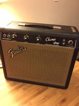 1966 Fender Champ Amp for sale EXCELLENT!