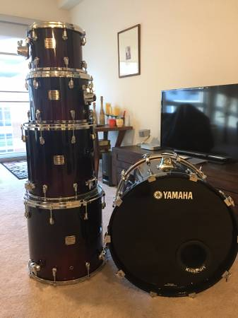 Yamaha Drums Maple/Birch Custom Absolute 5 Piece Shell Pack