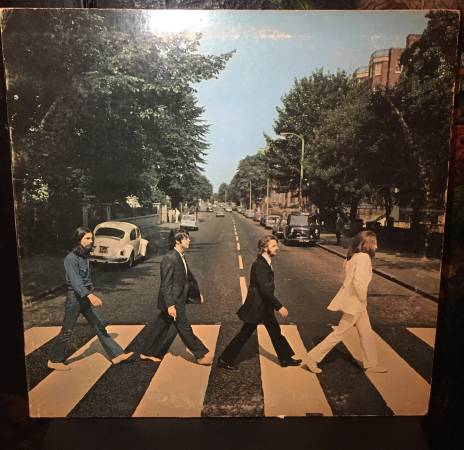 THE BEATLES Abbey Road LP SO-383 RARE Apple 1969 Sewer Cover