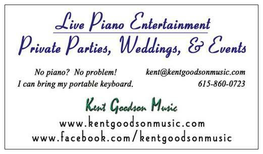 Piano Player for Special Events