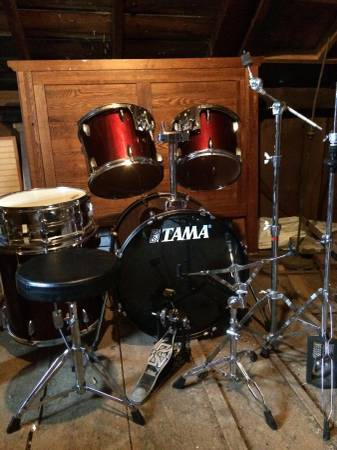 Tama Drums with Hardware