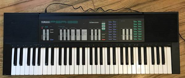 Yamaha PSR-32 piano 61 key keyboard + power supply