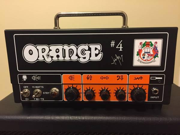 Orange Tiny Terror Jim Root #4 Amp Head