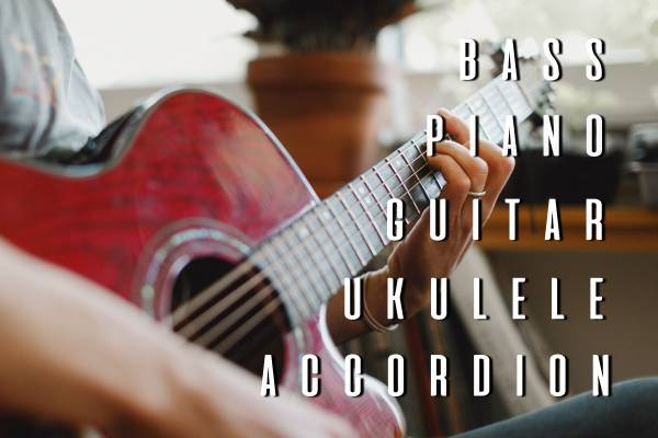 Music Lessons (GUITAR, PIANO, BASS, UKULELE, ACCORDION)