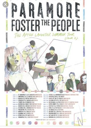 Paramore and Foster The People Tickets