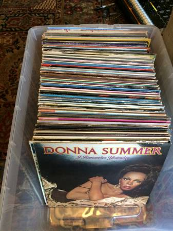 1970s/1980s LP Record Lot Donna Summer, Cher, Natalie Cole, Diana Ross