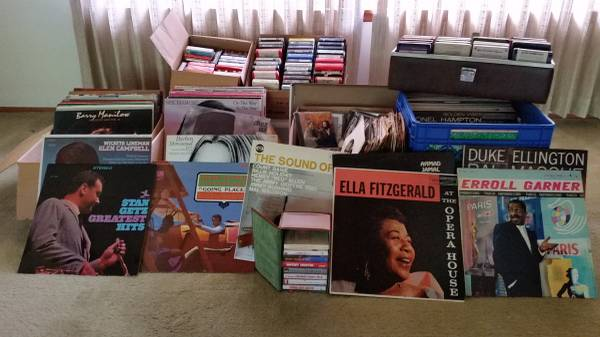Large multiple artist record collection