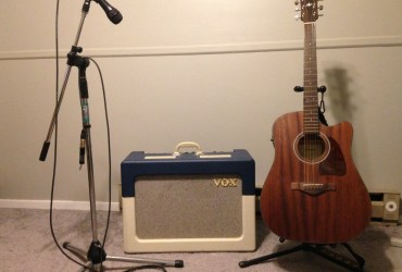 Ibanez Acoustic Electric, Vox AC 15, and Cobalt Mic Combo For Sale!