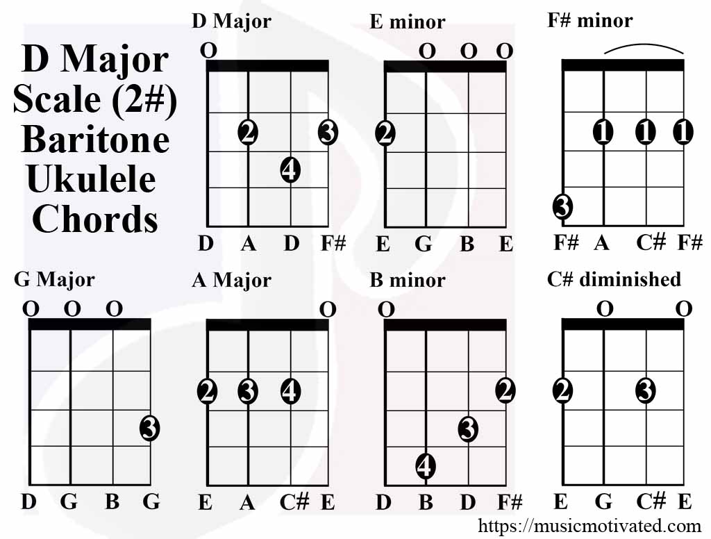 Chords in the key of D major tMusic t Key
