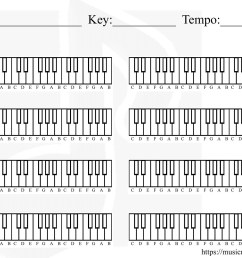 blank piano chart for creating a chord progression [ 1650 x 1275 Pixel ]