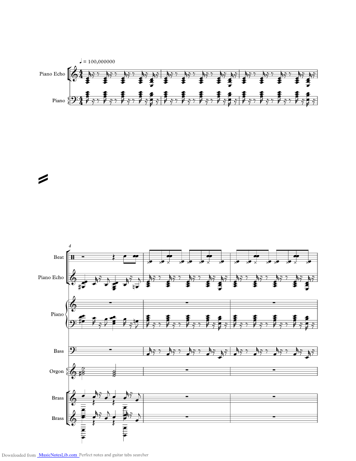 x music sheet and