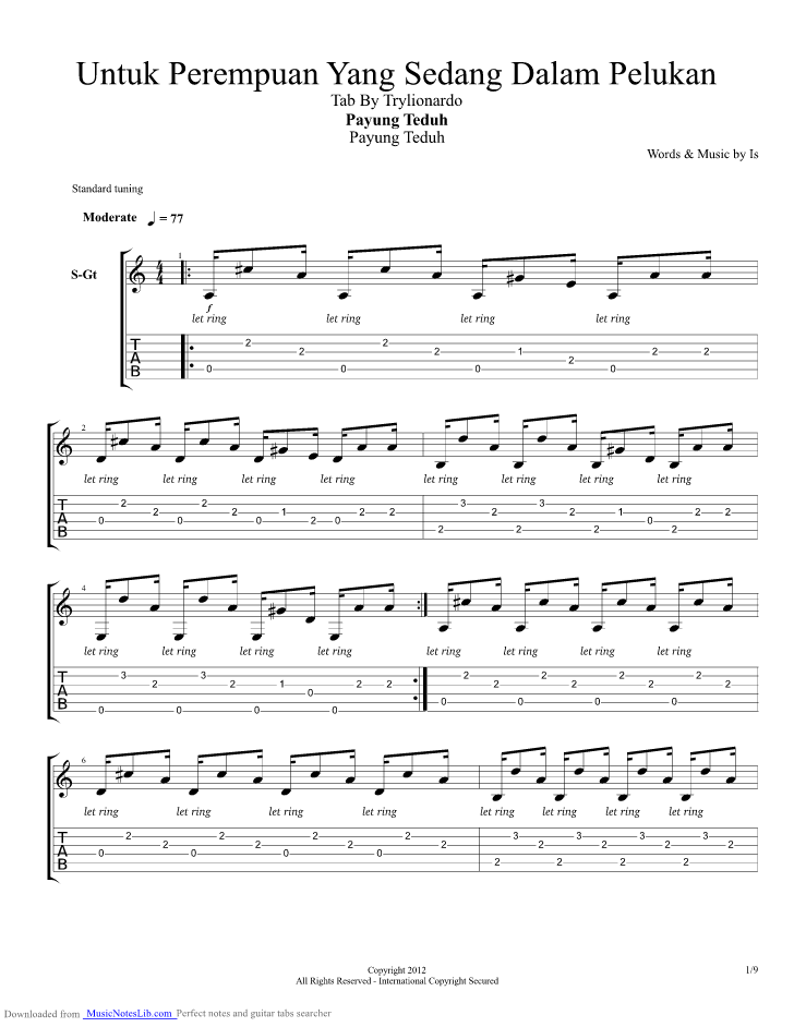 Untuk Perempuan Dalam Pelukan Chord : untuk, perempuan, dalam, pelukan, chord, Untuk, Perempuan, Sedang, Dalam, Pelukan, Guitar, Payung, Teduh, Musicnoteslib.com