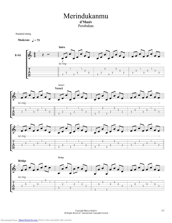 Chord D Masiv Diam Tanpa Kata : chord, masiv, tanpa, Merindukanmu, Guitar, Masiv, Musicnoteslib.com