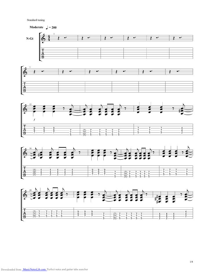Chord Jrock Ceria : chord, jrock, ceria, Ceria, Guitar, J-rocks, Musicnoteslib.com