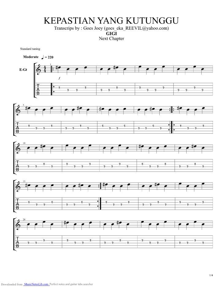 Chord Gigi Dengan Menyebut Nama Allah : chord, dengan, menyebut, allah, Kepastian, Kutunggu, Guitar, Musicnoteslib.com