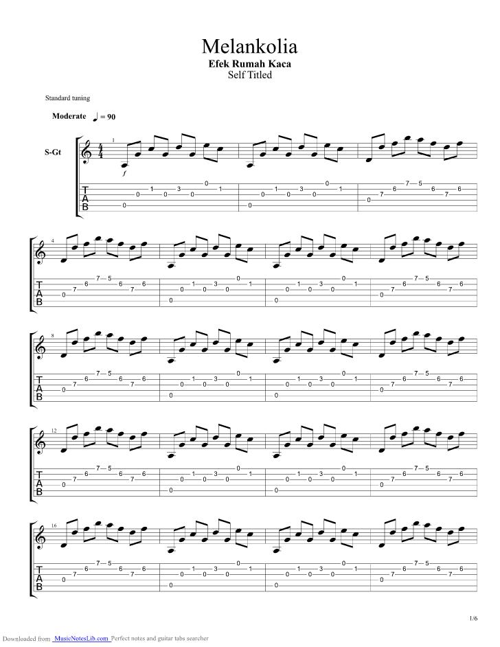 Chord Desember Erk : chord, desember, Melankolia, Guitar, Rumah, Musicnoteslib.com