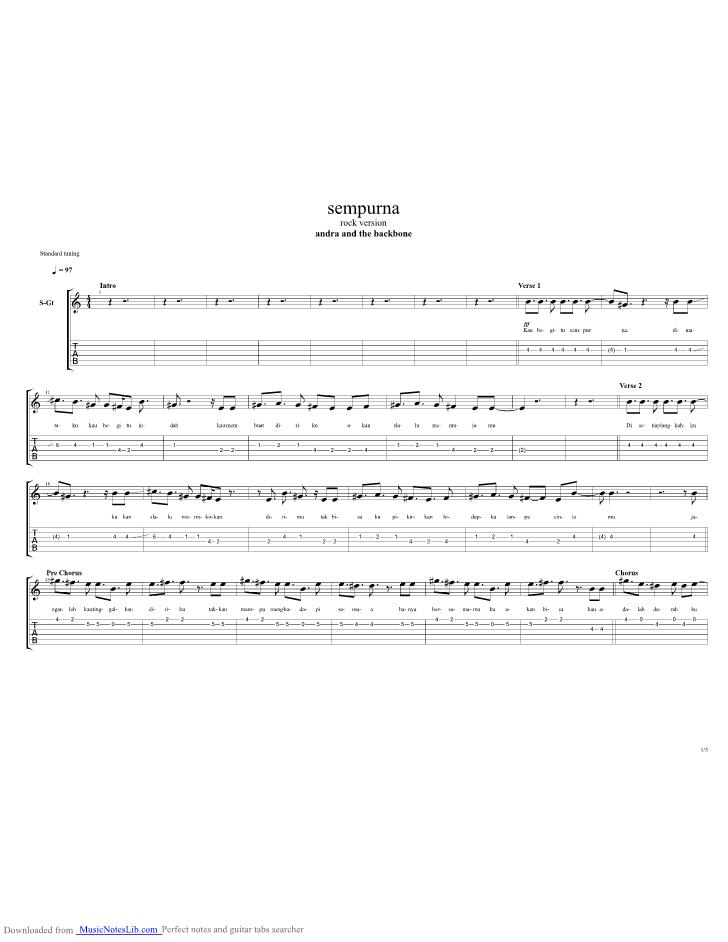 Andra And The Backbone Sempurna Chord : andra, backbone, sempurna, chord, Sempurna, Guitar, Andra, Backbone, Musicnoteslib.com
