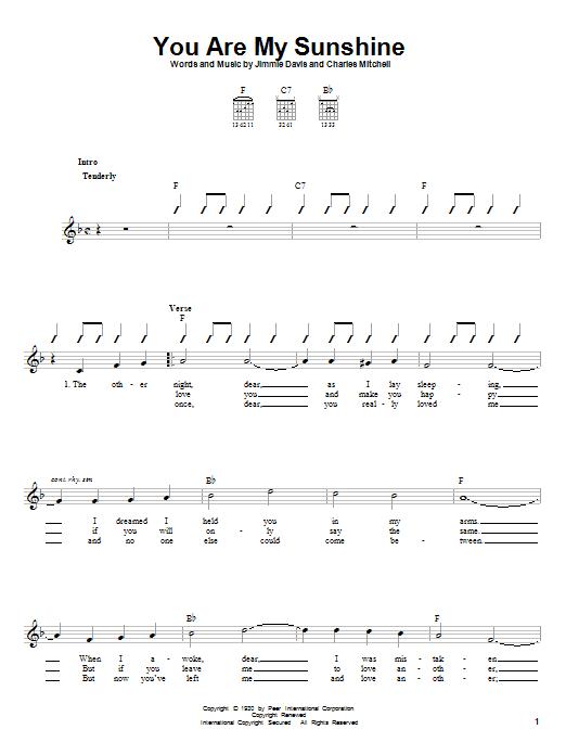 You Are My Sunshine Ukulele Notes : sunshine, ukulele, notes, Ukulele, Sunshine, Www.imghulk.com
