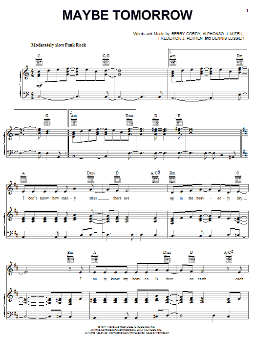 Maybe Annie Sheet Music : maybe, annie, sheet, music, Jackson,