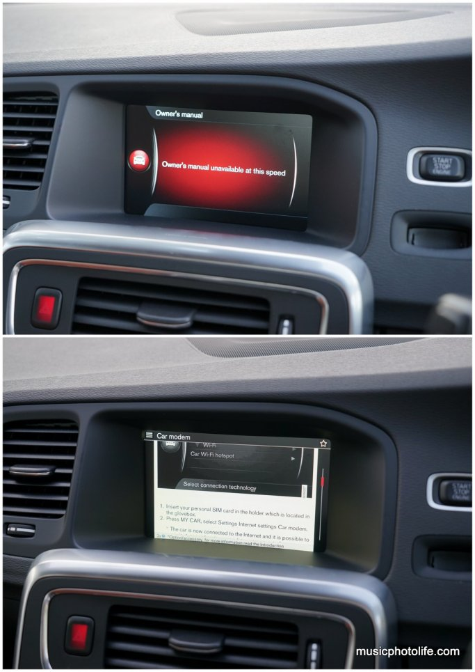 Volvo S60 T5 browser
