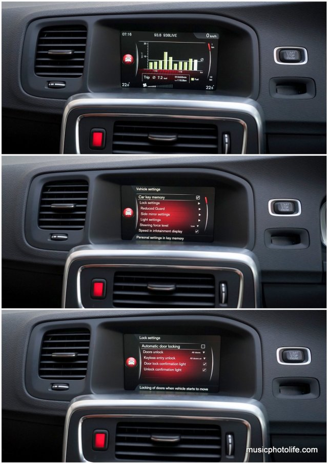 Volvo S60 T5 Sensus menu