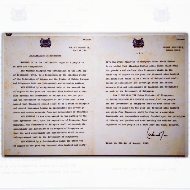 Proclamation of SIngapore Independence