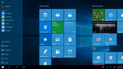 Windows 10 screen