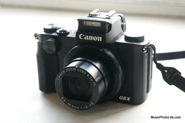 Canon G5X lens protruding flash popping up