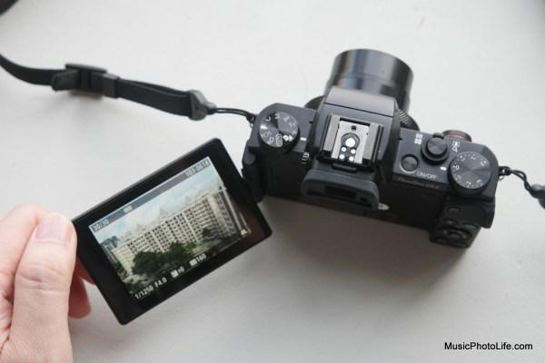 Canon G5X swivel screen