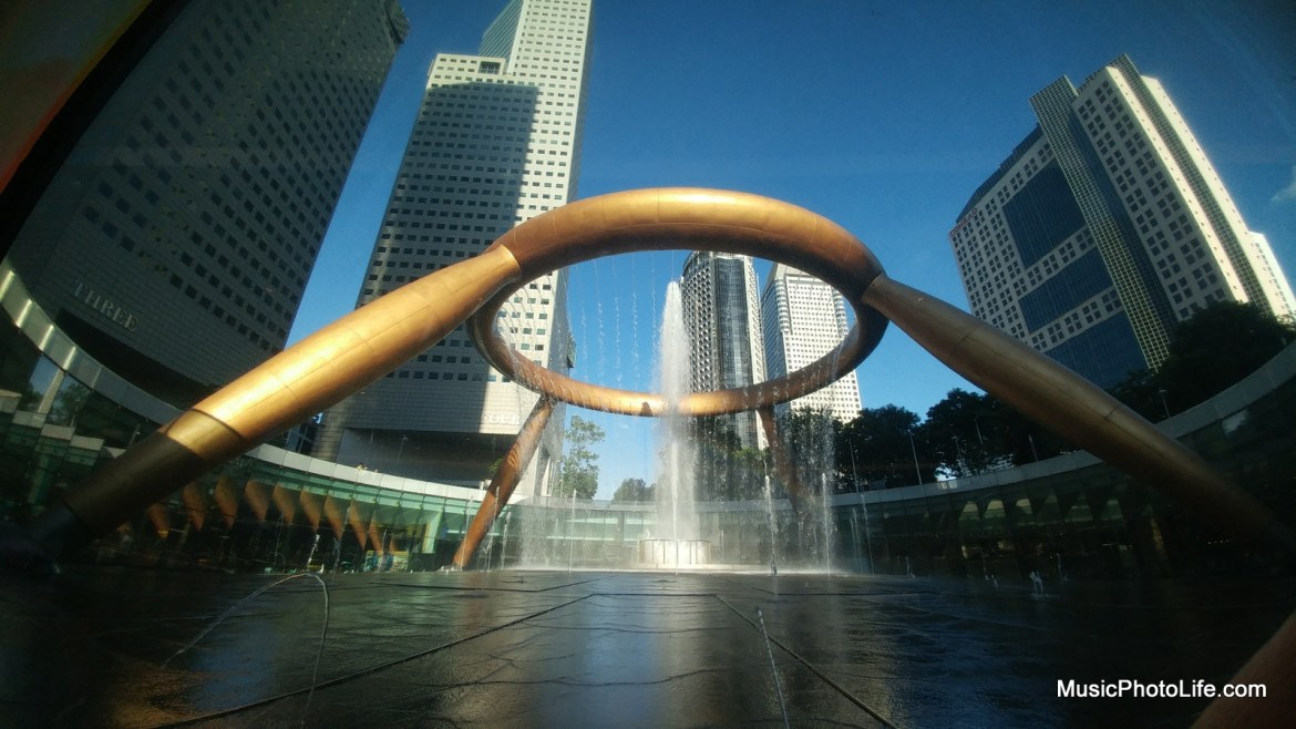 Suntec City Fountain wide angle shot with LG G5