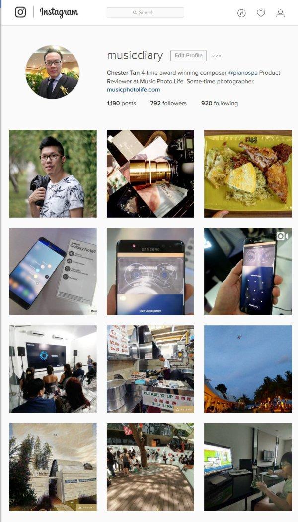 Chester Tan Instagram Profile