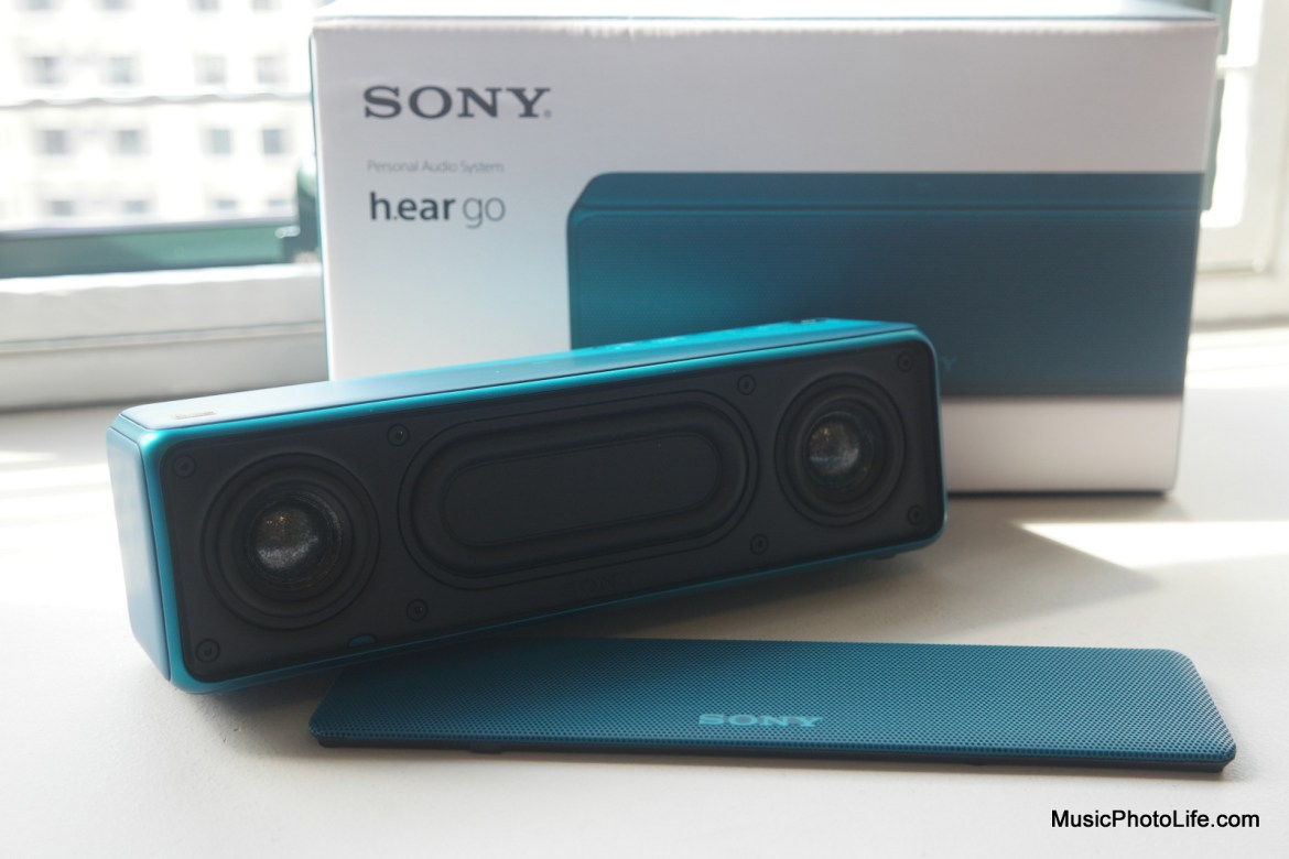 Sony h.ear go SRS-HG1 speaker grille removed