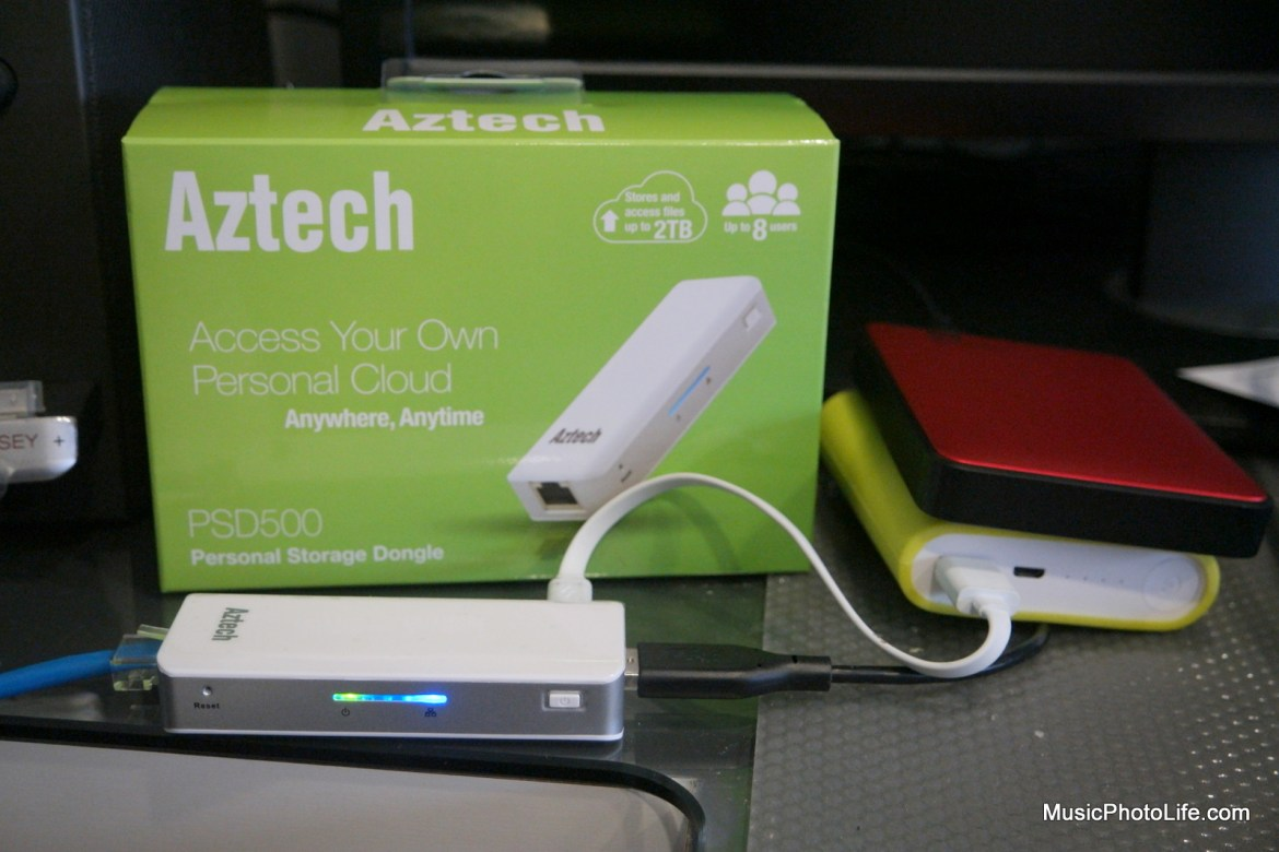 Aztech PSD500 plugged in