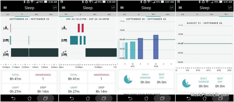 Striiv smartphone app sleep tracking