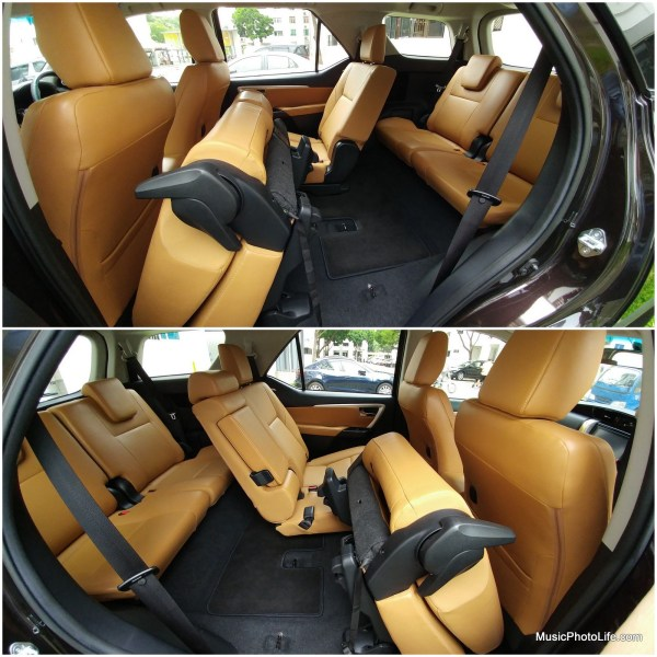 Toytota Fortuner folding middle row seats